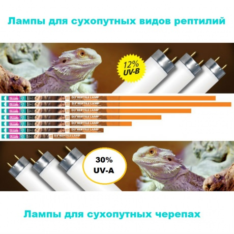 Лампа Arcadia D3+ 12% Reptilr Lamp