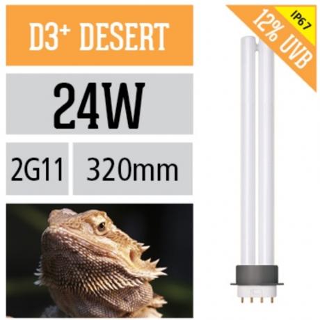 Лампа для рептилий Arcadia Compact D3 + Desert 24 Вт 2G11 12%UVB