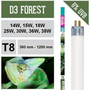 Лампа для рептилий Arcadia D3 Forest T8 6% UVB