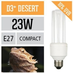 Лампа для рептилий Arcadia Compact E27 D3 + Desert 10%