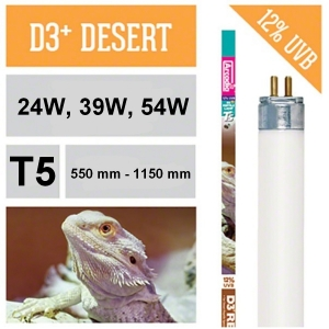 Лампа для рептилий Arcadia T5 D3 + Desert Species Lamp 12%UVB