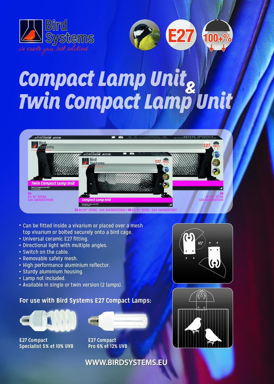 compact lamp unit bird systems